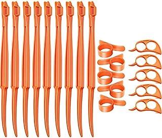 36 Pieces Orange citrus Peeler Tool Plastic Easy Cutter Peeler Citrus Orange Lemon Peeler Remover for Kitchen Peeling Frui...