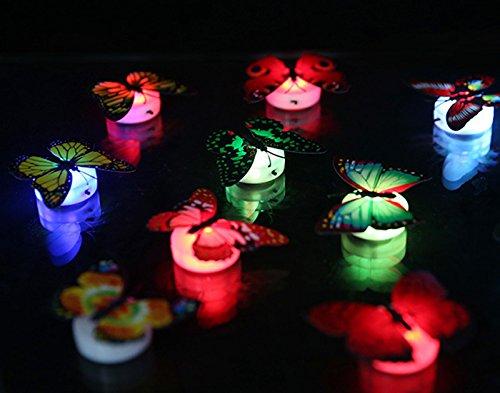 Luz de noche de la decoración de la mariposa, colorida mariposa cambiante LED noche lámpara hogar habitación