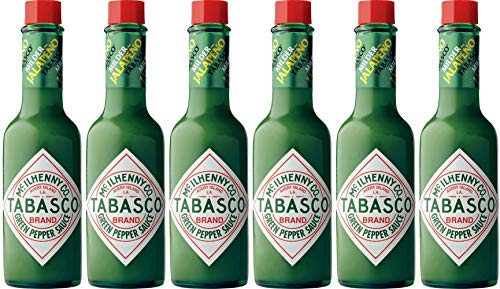 Milden Grünem Pfeffer Tabasco 57Ml - Packung mit 6