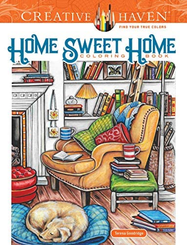 Creative Haven Home Sweet Home Coloring Book Adult Coloring product image