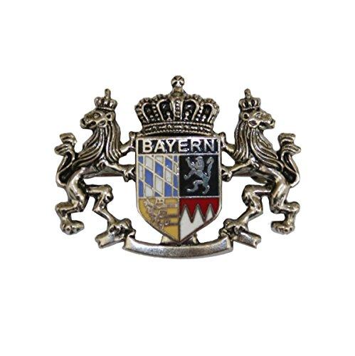 Hutanstecker | Hutabzeichen | Hutschmuck | Anstecker – Bayrisches Wappen – Handbemalt – 3 x 4 cm