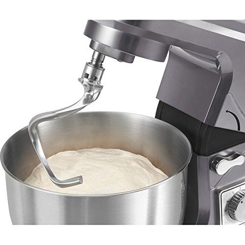 Bomann KM 1393 CBRobot pâtissier 7vitesses avec balance de cuisine Couleur titane 1000W 5l