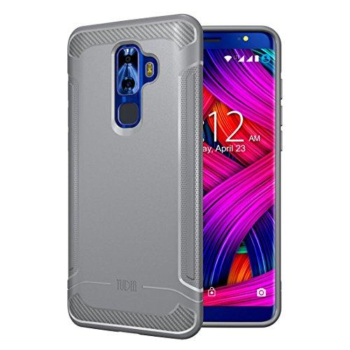 Nuu Mobile G3 Case, TUDIA Carbon Fiber Design Lightweight [Linn] TPU Bumper Shock Absorption Cover for Nuu Mobile G3 (Gray)