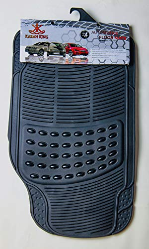 KING KARAN 4 Piece Car Mat Universal Non-Slip Deep Grooved Heavy Duty Rubber for Cars SUV Truck and VAN, Water Proof, All Weather Floor Mats