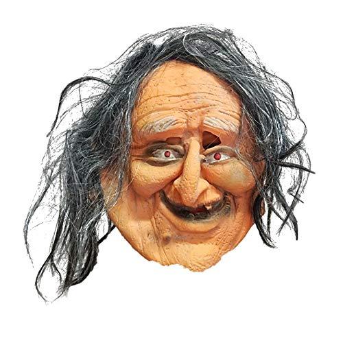 KDLK Halloween Maske Horror Horror hässliche alte Frau Maske Film Requisiten Horror Party Maske Party Requisiten Größe für die meisten Menschen geeignet