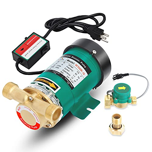 POWERENG Home Water Pressure Booster Pump,110V 120W 396GPH 21.7PSI...