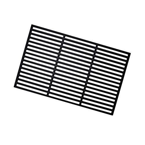 Parrilla de hierro fundido UISEBRT, rectangular, esmaltada, para barbacoa de gas, barbacoa...