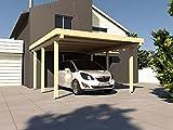 Carport Flachdach AVUS XXIII 300 x 500 cm KVH Bausatz Konstruktionsvollholz Fichte