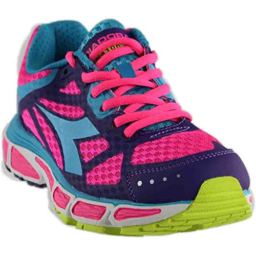 Diadora Womens N-4100-2 Running Casual Shoes, Pink, 5.5
