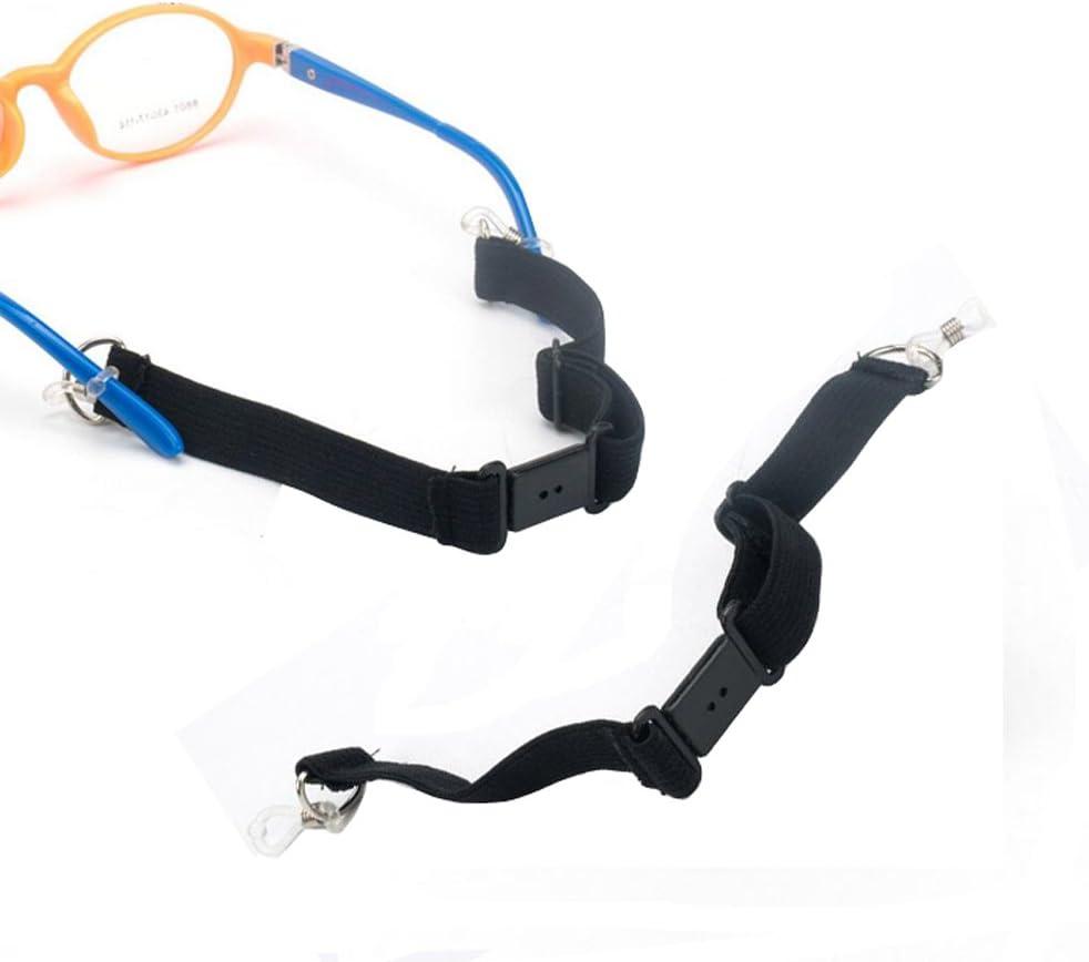 2 Pcs Adjustable Sports Eyeglass Strap with Buckle Adult Kids Sunglasses Cord Eyewear Retainer Eyeglass Elastic Band Holder Lanyard