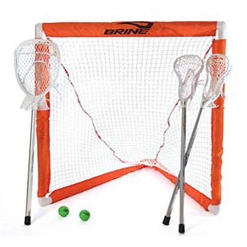 Brine Lacrosse Mini Lacrosse Set (Includes 2 Mini Sticks, 1 Mini Goalie Stick, Goal and Net)