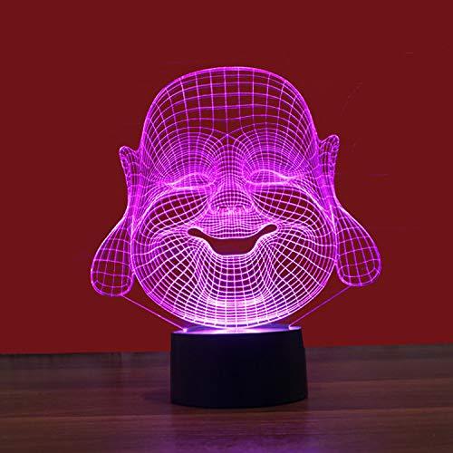 3D Illusions Optiques Lumière de nuit Nuit Lumière, Nathan Levier Tête 7 Couleur Décoration Chambre Enfant Cadeau Noël Fête