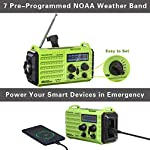 Rocam Wind Up Solar Radio,Emergency Radio Hand Crank Portable with 2000mAh Power Bank USB Charger,LED Flashlight,Reading…