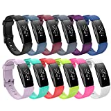 for Fitbit ACE 2 Bands Kids, Replacement Accessory Soft Silicone Band 4.5''-7'' Size for Fitbit ACE 2 Kids Activity Tracker for Kids 6+ Wristbands Available in 12 Colors with Metal Clasp and Fastener