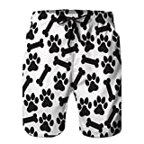 Bañador para Hombre Shorts de Playa Estampados con Bolsillos Animal Print Background Isolated Icon