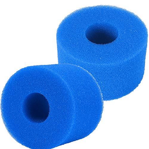 AEUWIER 2 uds Filtro de Piscina Reutilizable Lavable Filtro de Piscina Cartucho de Espuma Lavabo de Espuma para Intex S1 Tipo