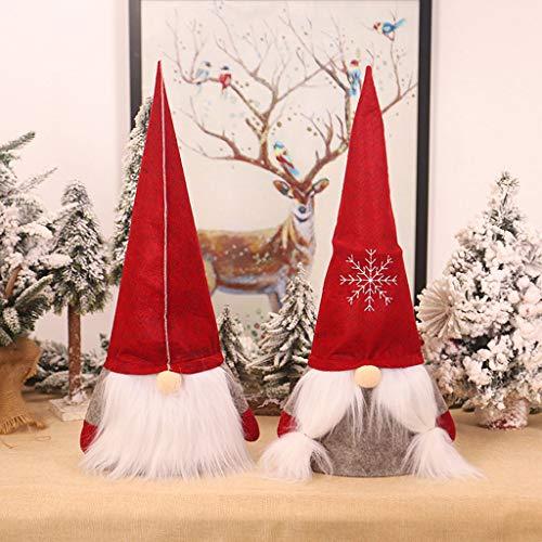 BURAN - Kit de 2 piezas para casa de muñecas de Navidad, diseño de gnomo sueco de Papá Noel