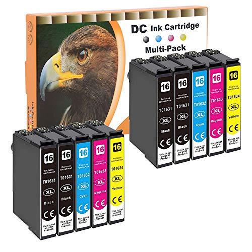 D&C 16xl Cartuchos de Tinta Compatible para Epson 16XL para Epson Workforce WF-2750DWF WF-2510WF WF-2010W WF-2630WF WF-2520NF WF-2530WF WF-2540WF (4 Negro,2 Cian, 2 Magenta, 2 Amarillo, 10Pack )