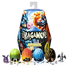 SMASH TO UNLEASH: Hidden inside each uniquely sculpted Dragamonz egg is a collectible figure waiting to be unleashed! Half dragon, half animal, all the fun – each Dragamonz has its own rarity, personality and powers to equip them in battle. Smash the...