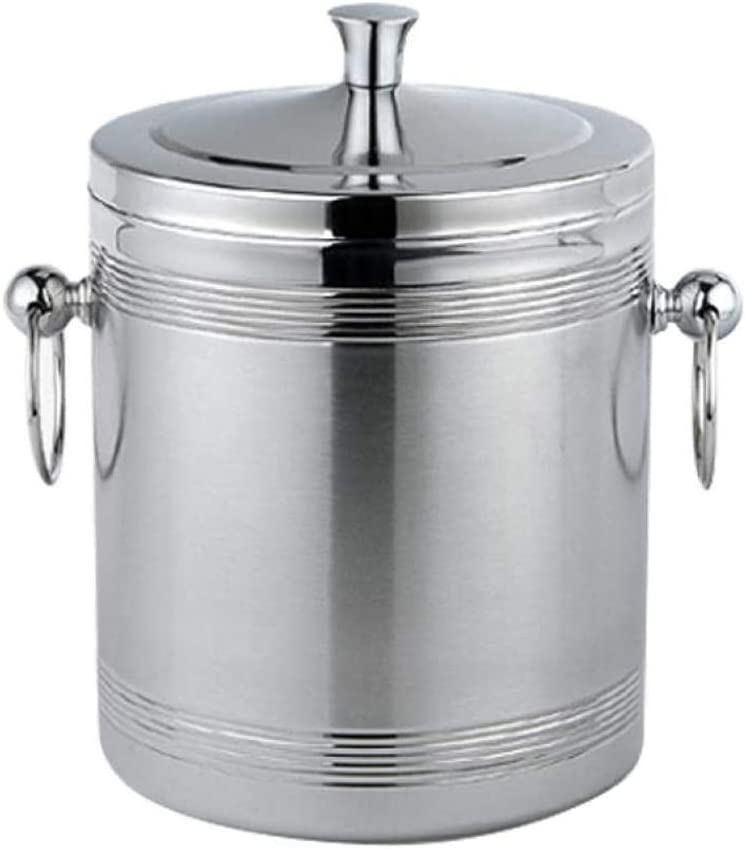 WJCCY Ice Bucket Stainless Steel Wall Tampa Mall Buckets Double Insulat SALENEW very popular!
