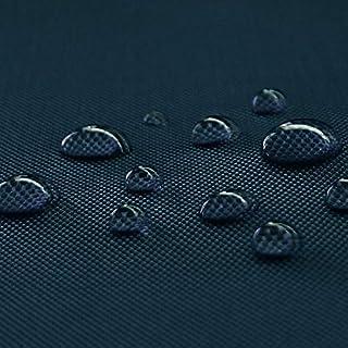 NOVELY Oxford 600D Polyester Stoff 1 lfm Outdoor wasserdicht extrem reissfest robust PVC Meterware Segeltuch Abdeckplane Zelt Rucksack Tasche 25 Navy Dunkelblau