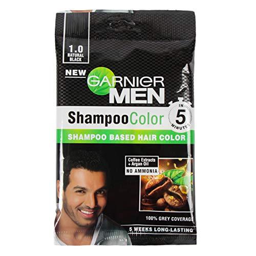 Garnier Garnier Men Shampoo Color Shade 1 Natural Black, 49 g