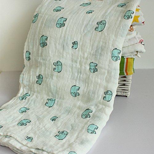 Toallas de baño bebé para capazo protectora bebé servilletas de cuerpo para niño niña en algodón multifunción pañuelo lactancia alimentación gasa de baño babero como peignoirs 001# Talla:115*115cm