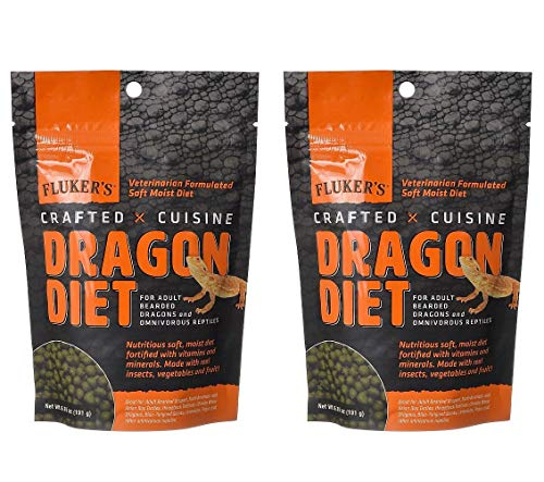 Fluker's 2 Pack of Crafted Cuisine, 6.75 Ounces Each, Moist Diet for Adult Bearded Dragons and Omnivorous Reptiles