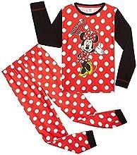 Disney Pijama Niña, Minnie Mouse Pijama Niña Invierno, Ropa para Niña Algodon, Conjunto 2 Piezas Manga Larga y Pantalon, Regalos para Niñas y Adolescentes (18-24 Meses)
