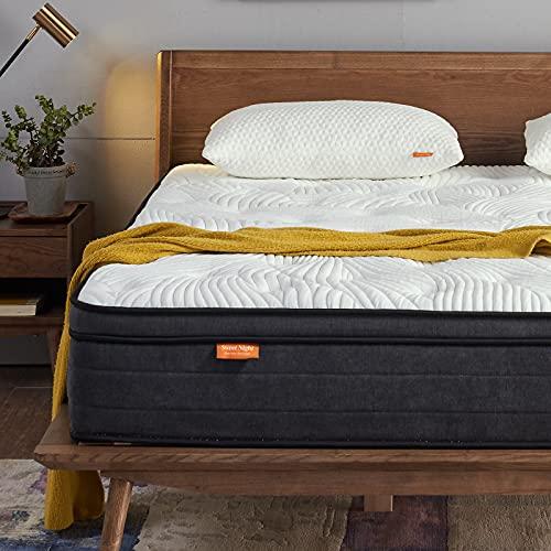 Sweetnight Matratze 90x200 Kinder Tonnenfederkernmatratze mit Gelschaum Orthopädisch punktelastische Matratze Härtegrad 3 Höhe 25cm ( 90 x 200 x 25 cm )