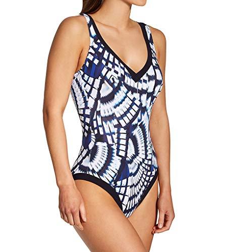 Anita Women's Blue Fan Gaby Shaping One Piece Swimsuit 7470 48D Blue Violet