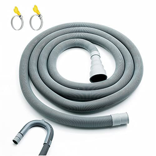 """Universal Washing Machine Drain Hose,10 Ft Washer Drain Hose Extension Kit with U-Bend Hose Holder and 2 Hose Clamps, Fits For 3/4"""" to 1-1/2"""" Drain Outlet"""