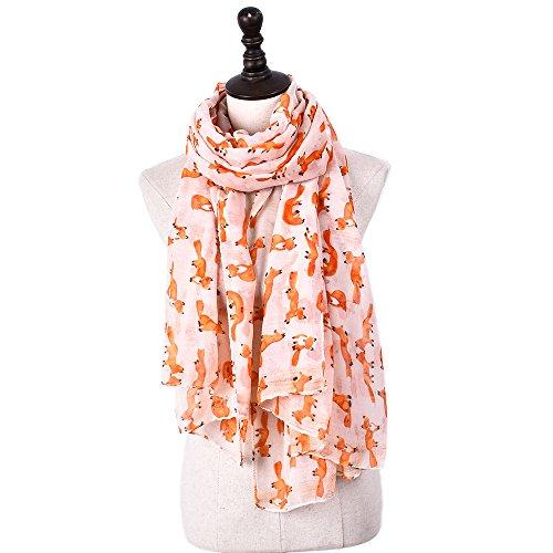 Dhmm123 Bufandas cálidas Bufanda para Mujer Moda Ligera Otoño Invierno Mantón Wraps Bufanda (Color : Orange, Size : OneSize)