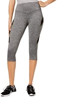 Material Girl Juniors Mesh-Inset Cropped Le Heather Grey Xs