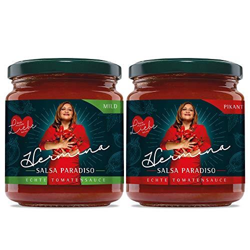 Salsa Paradiso 6 x Mild + 6 x Pikante Tomatensoße, je 290g, Feinschmecker Sauce mit Liebe gekocht