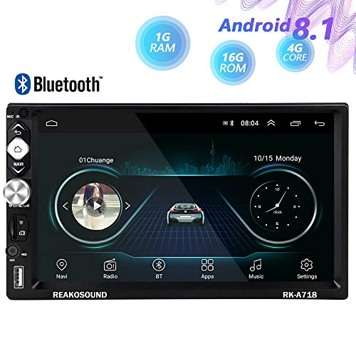 Hikity Android Double Din Car Stereo With GPS 7 Inch Touch Screen Radio Supports FM Bluetooth Receiver WiFi Connect Mirror Link For Android/iOS Phone + Backup Camera & Steering Wheel Remote Controller