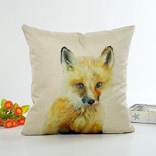 Sunnywill 45cm*45cm niedliche Tier Kissenbezug Sofa Taille werfen Home Decor (Kissen ist Nicht im Preis inbegriffen) (F) (B)