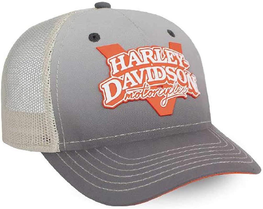 Harley-Davidson Women's V-Twin Power Adjustable Baseball Cap, Gray BC132554