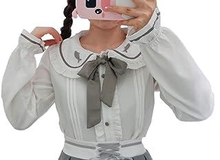 天使のドレス屋さん GD004 レディース ブラウス 長袖 ブラウス ホワイト 白 韓国 リボン 可愛い 大人 レディース 春 夏 韓国 トップス 衣装 返品交換不可 エンジェルローブヴィセ ヴィセ visee
