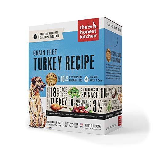 The Honest Kitchen Human Grade Dehydrated Grain Free Turkey Dog Food 10 lb - Embark