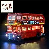 QJXF Juego De Luces USB Compatible con Lego Creator Experto Autobús De Londres 10258, LED Light Kit para (London Bus) De Bloques De Creación De Modelos (No Incluido Modelo)