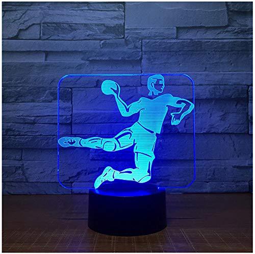 Nachtlicht Nachttischlampe Handball 3D Led Lampe 7 Farbe Nachtlampen Für Kinder Touch Usb Tischlampe Baby Schlafen Nachtlicht Raumlampe