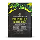 Pine Pollen and Nettle Root Extract Powder — Pure and Potent Extra Strong Extract — 70 Gram Bulk Powder — for Men and Women, Support Endocrine Health — Only from RAW Forest Foods