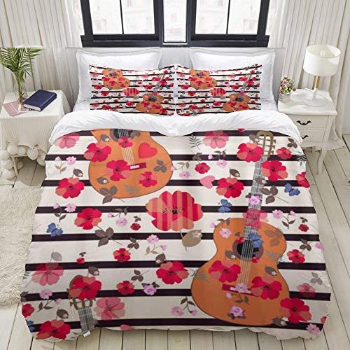 Edredón Individual Ropa de cama Lobo Dormitorio Casa Hogar Lavable a máquina Popper