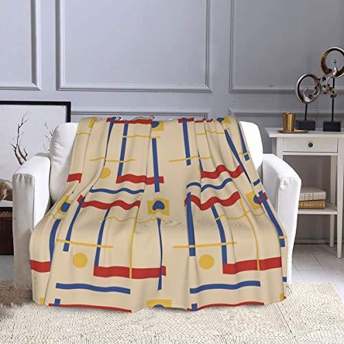 Manta de forro polar A Nod To Bauhaus Circle Sofa Manta ultra suave y cálida manta de felpa para sofá, cama, oficina y sala de estar, 127 x 152 cm