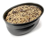 Zenker Brotform oval Black METALLIC, Brotbackform mit keramisch verstärkt Antihaftbeschichtung, Kuchenform aus hochwertigem Stahlblech, Backform für Brot (Farbe: Schwarz), Menge: 1 Stück