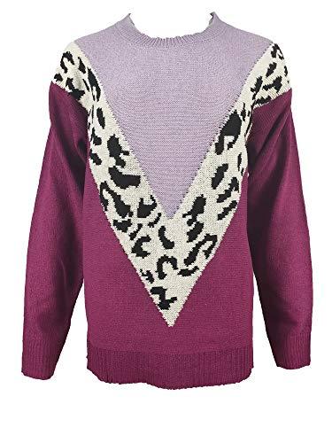 JCZX FrüHling Herbst Neue NäHte Leopardenmuster Pullover Langarmhemd Pullover Frauen