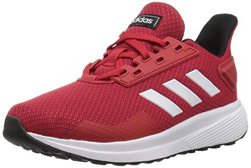 adidas Kids' Duramo 9 Running Shoe, Scarlet/White/Black, 13 M US Little Kid