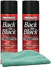 Mothers Back-to-Black Trim & Plastic Restorer (10 oz) Bundle with Microfiber Cloth (3 Items)