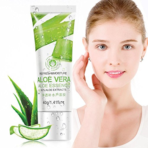 Aloe Gel für Gesicht, Hyaluronsäure Hautpflege Gesichtscreme, Whitening Anti Aging Face &Eye Feuchtigkeitscreme für Falten, unebener Ton, feine Linien und Akne Narben